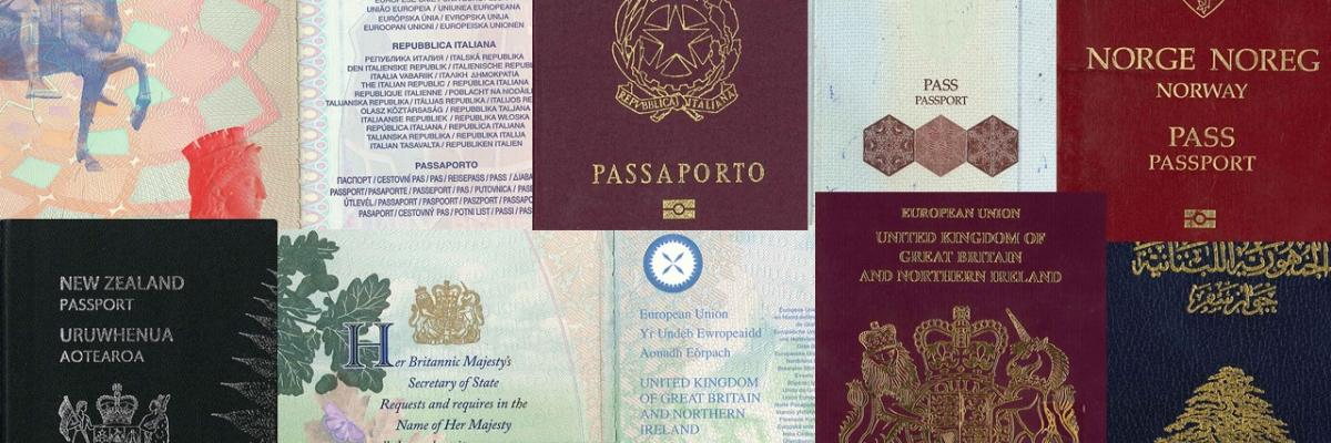 Various travel documents